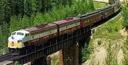 riding through train is a good way to explore beauty of nature